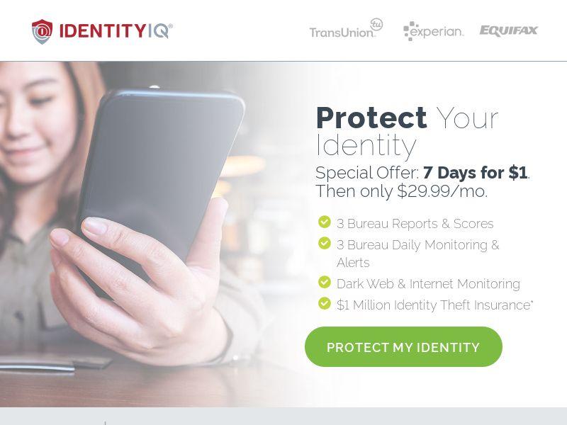 Identity Essentials V2 Light - $1 Trial (CC Trial) - Financial/Credit Score - US