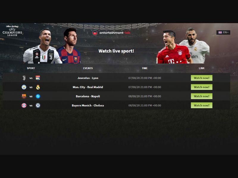 Champions League Stream Prelander [WW] - CC Submit