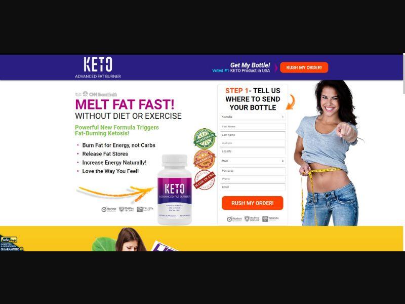Keto Advanced Fat Burner - Diet & Weight Loss - SS - [17 GEOs]