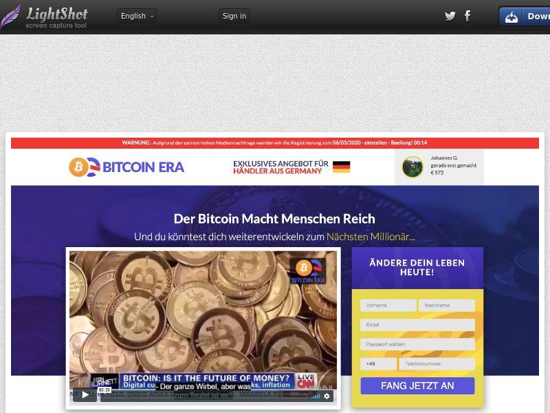 Bitcoin Era CPA DE, AT, CH, NL, BE, IT, ZA, CA