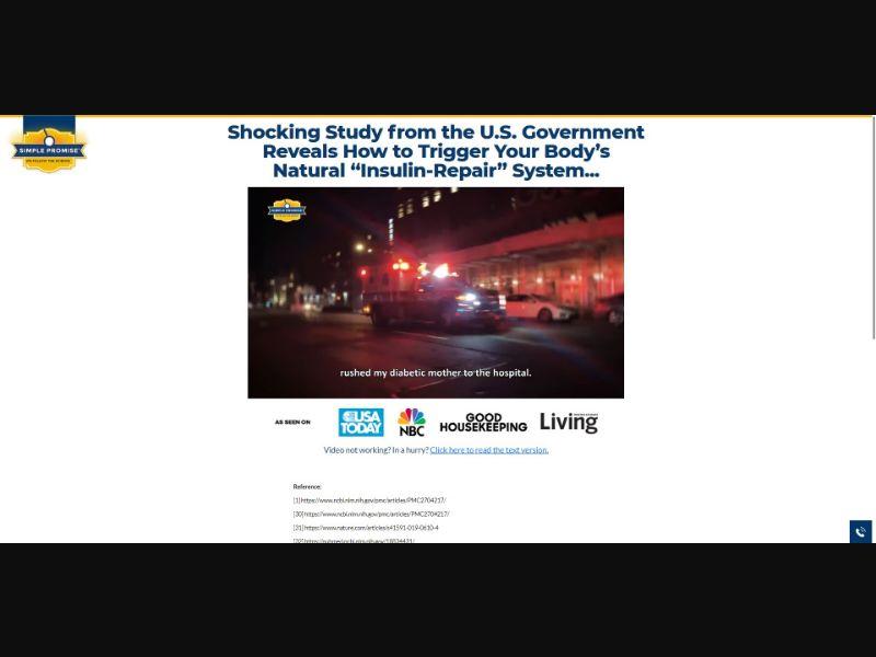 Simple Promise Glucose Shield - VSL - Health - SS - NO SEO - [US]