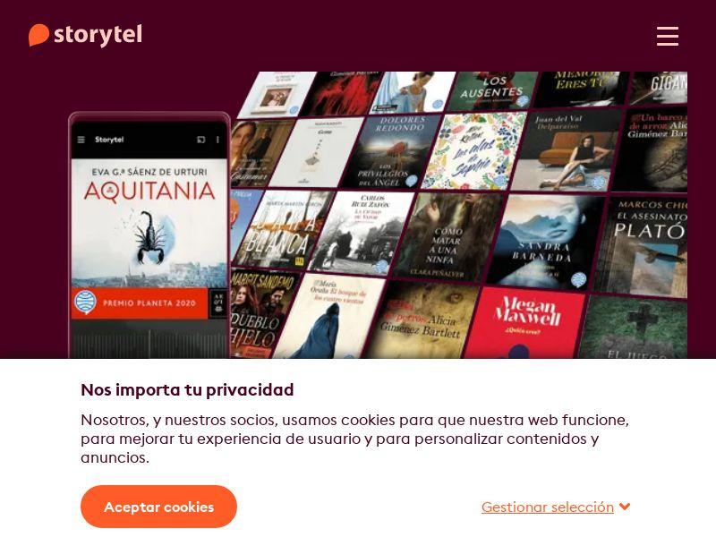 Storytel - ES (ES), [CPA], Books, Ebooks, Sell, shop