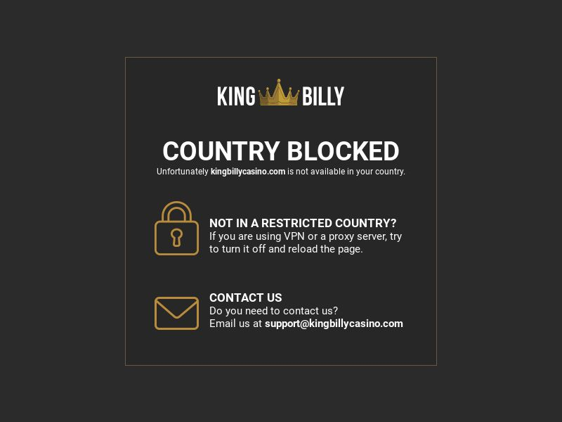 King Billy Casino CPA [IE, FI, NO, CA, AU, NZ, DE]