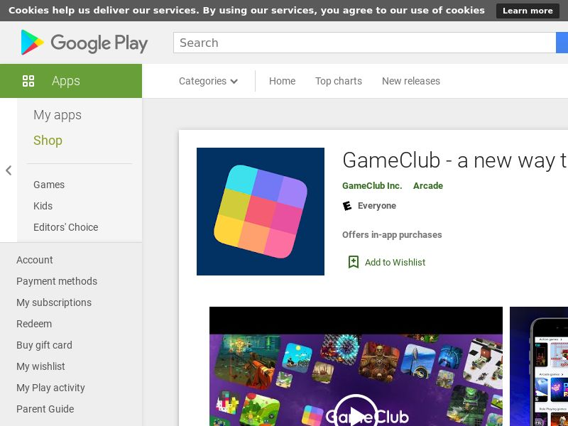 Gameclub - US, CA, AU, NZ, UK, IE - Android - CPE - Converts on free trial signup in-app