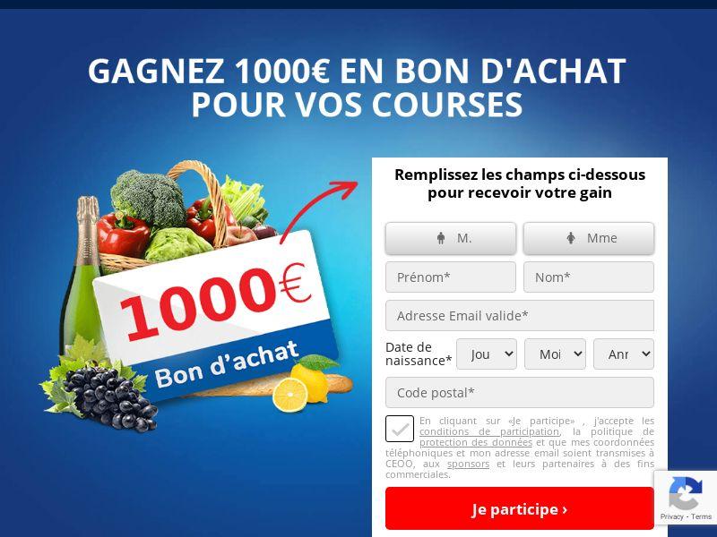 (14198) [WEB+WAP] Hypermarché bon d'achat 1000€- FR - CPL