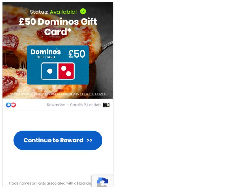Dominos €50 UK
