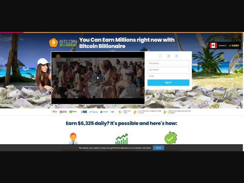 Bitcoin Billionaire - $250 min CTC - VSL - Crypto - SS - [50 GEOs]