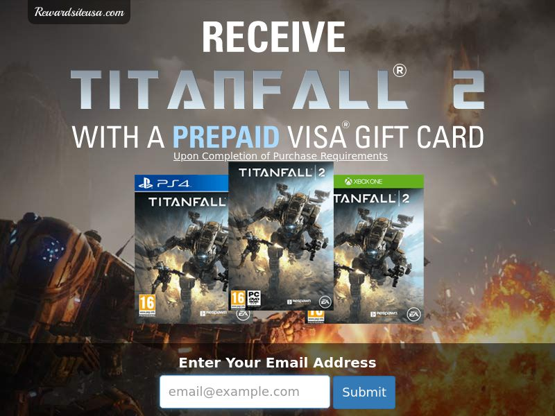 RewardSiteUSA - Titanfall - Email Submit - US - Incent - DIRECT