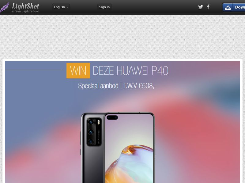 Portal Leads - Huawei P40 (BE, NL) (CPL) (Incent) (Personal Approval)