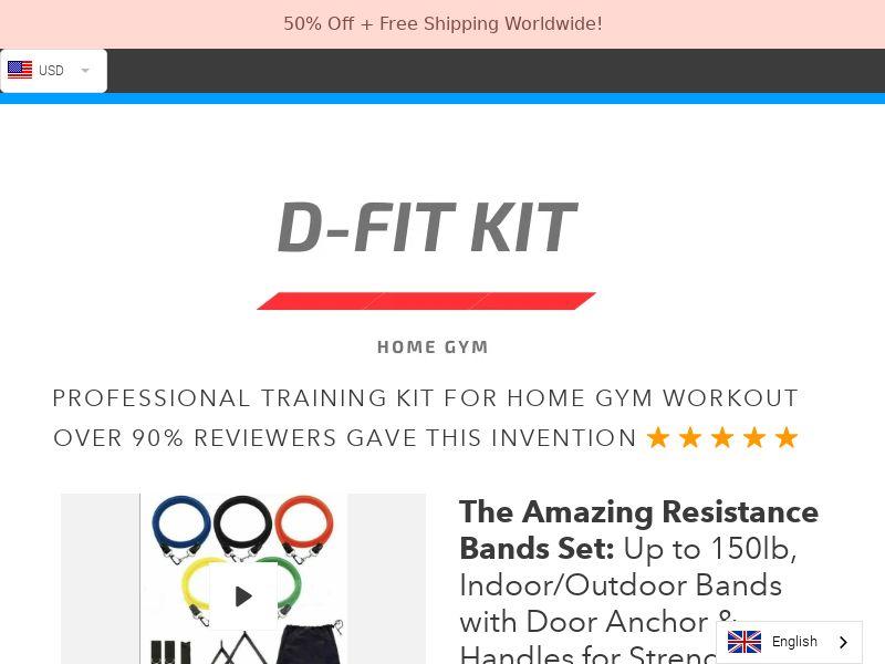 D Fit Kit - Professional Trainig Kit - CPA - [INTERNATIONAL]