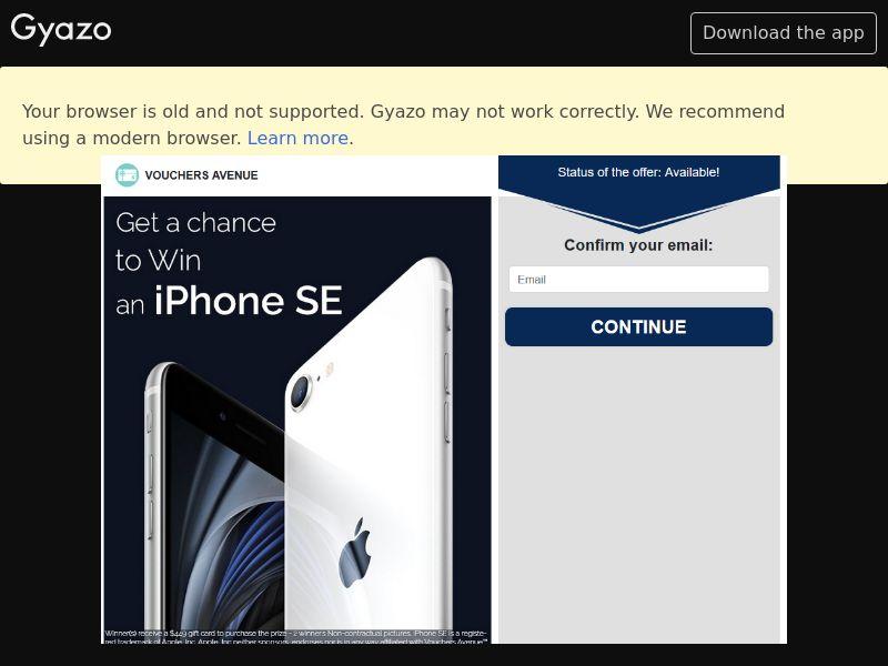 VouchersAvenue - Win iPhone SE (US) (CPL) (Desktop)