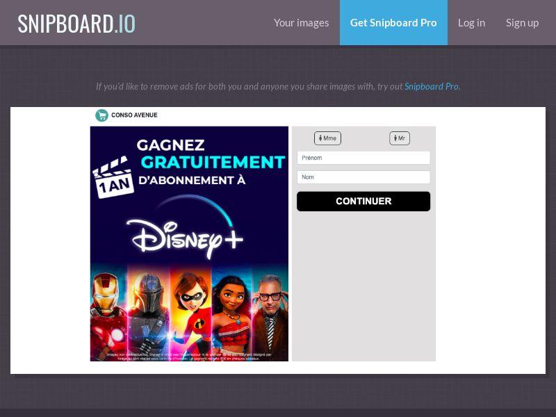 Disney+ pour 1 an! - FR