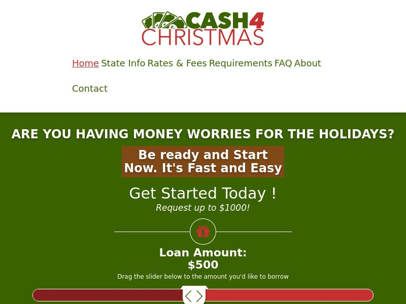 Cash 4 Christmas / Xmas Holidays! [US] (Email,Social,Banner,PPC,Native,Push,SEO,Search) - RevShare {No Networks}