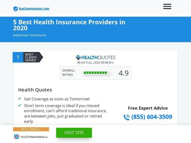 OurComparisons.com 5 Best Health Insurance Providers [US]|PPL|Responsive