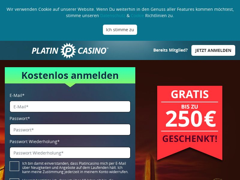 Platin Casino [DE] (Email,Social,Banner,Native,Push,SEO,Search) - CPA