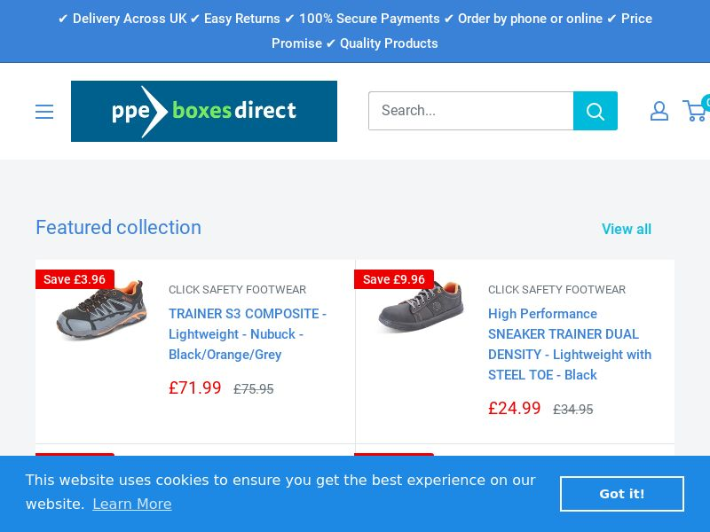 PPE Boxes Direct - UK (GB), [CPS]