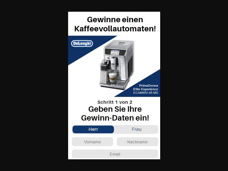 DE - Win DeLonghi Coffee Machine [DE] - SOI registration