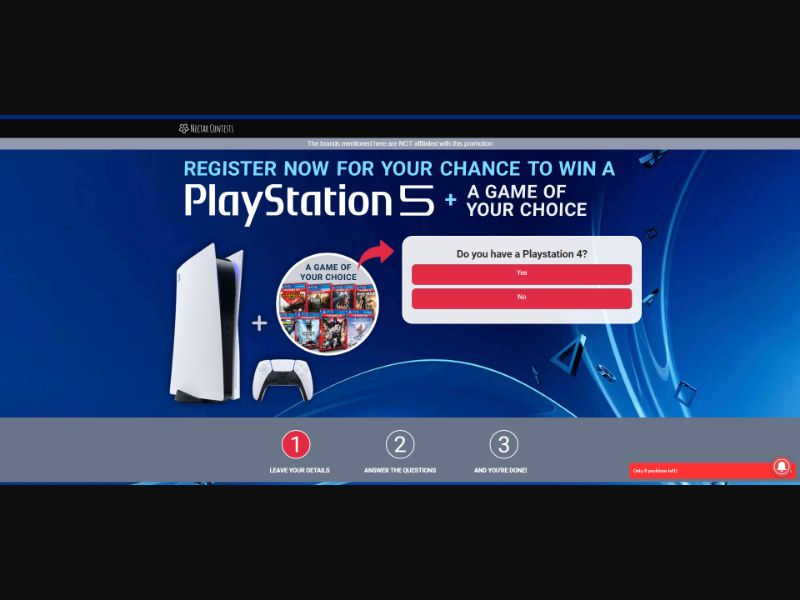 Playstation 5 Sweepstakes - INCENT - AU