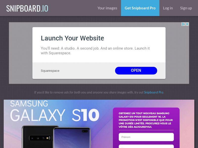 SteadyBusiness - Samsung Galaxy S10 LP21 FR - CC Submit