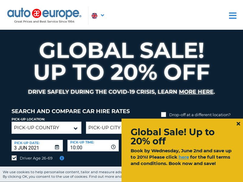 AutoEurope - UK (GB), [CPS]