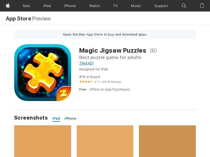 Magic Jigsaw Puzzles - iOS - US (IDFA) (Hard KPI)
