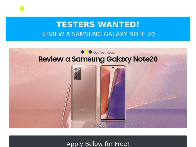 OfferX - Free Samsung Galaxy Note [UK]