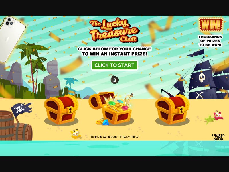 The Lucky Treasure - CC Submit - US - Sweepstakes - Responsive