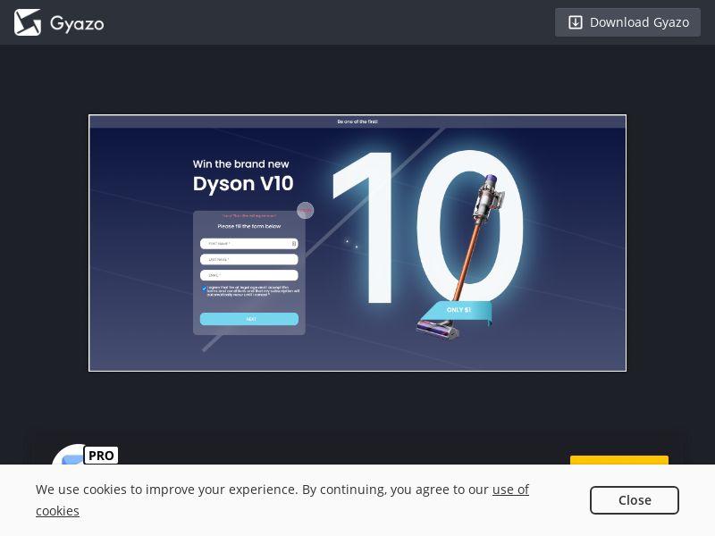 Dyson V10 sparkslander US   CA   CC Sub
