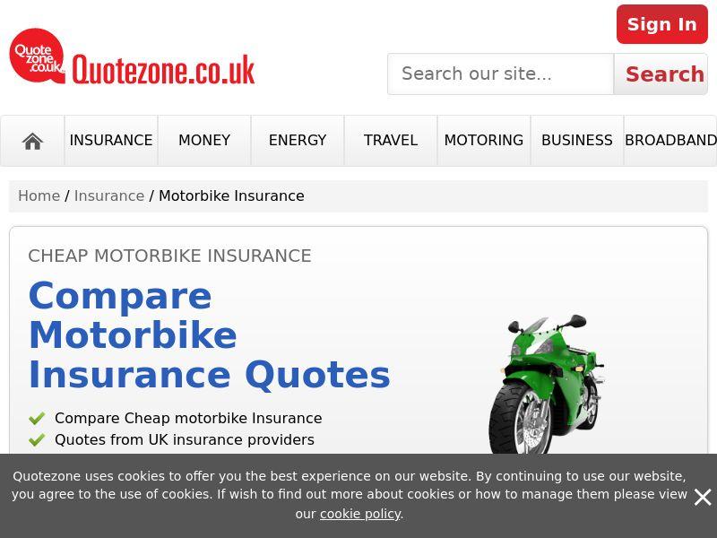 QuoteZone - Compare Bike Insurance - CPL (UK)