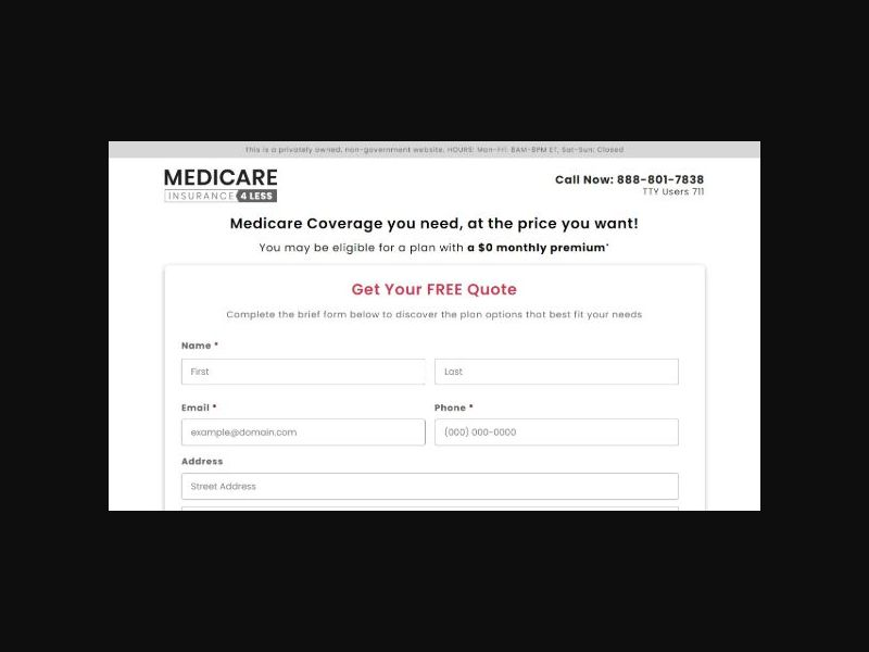 Medicare-Insurance4less.com - Email Only (US)