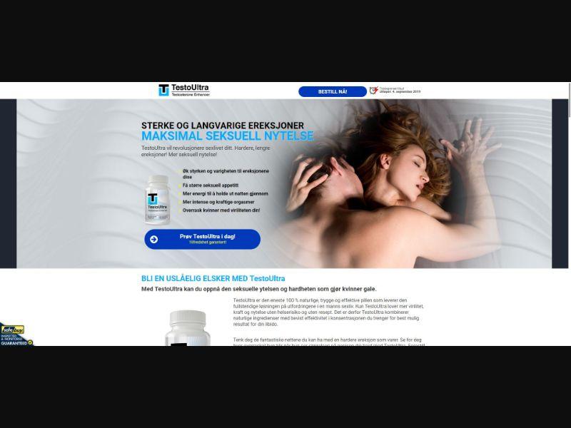 TestoUltra Testosterone Enhancer - Male Enhancement - SS - [NO]