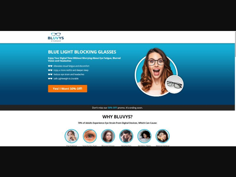 Bluvys Eyewear - Health - SS - NO SEO - [US]
