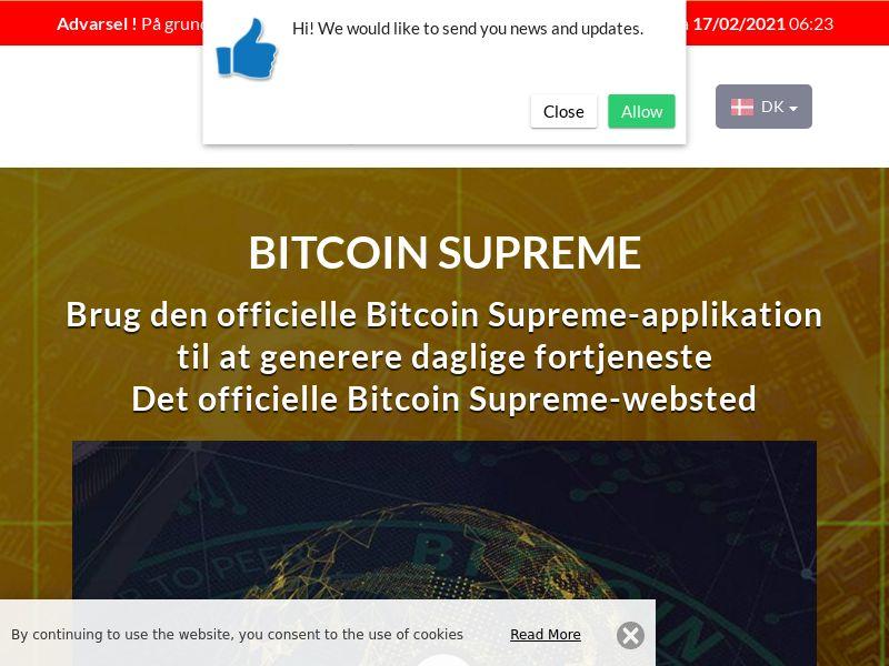 Bitcoin Supreme Danish 1908