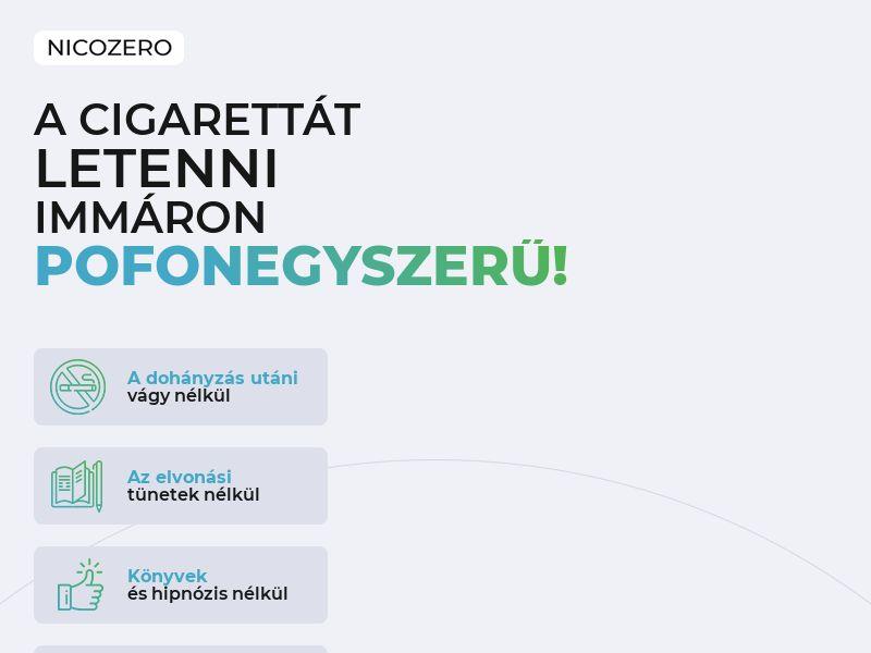 NicoZero HU - treatment for smoking