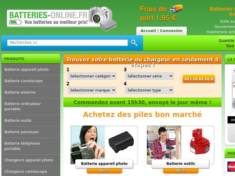 Batteries Online - FR (FR), [CPS], Appliances and Electronics, Hardware, Telephones and accessories, Sell, shop, gift