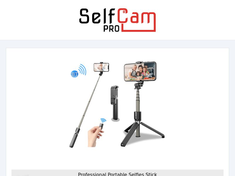 SelfCam Pro - Professional Telescopic Stick - CPA - [INTERNATIONAL]