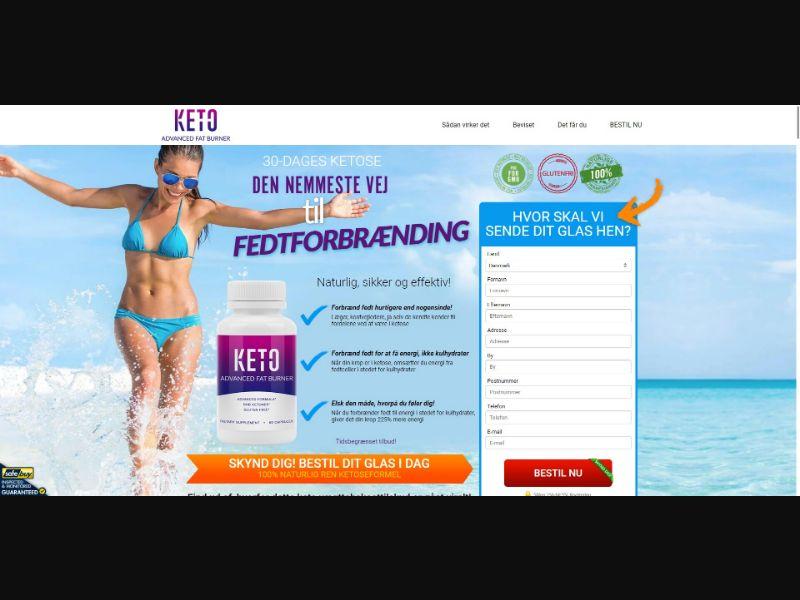 Keto Advanced Fat Burner - V1 - Diet & Weight Loss - SS - [DK]