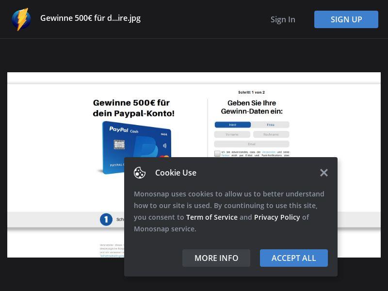 Germany (DE) - 500€ PayPal Voucher (Responsive)