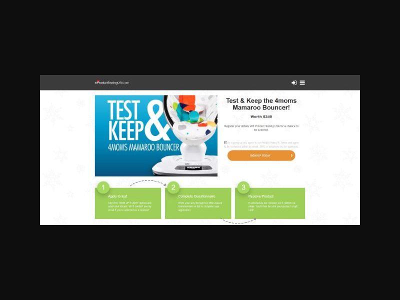 Product Testing - 4moms Mamaroo Bouncer (US)