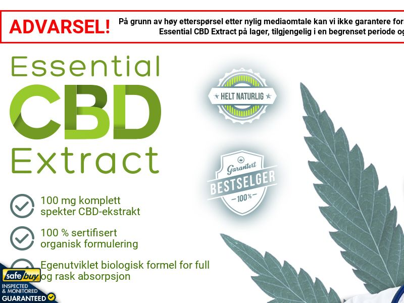Essential CBD Extract Norwegian [NO](Social,Banner,PPC,Native,Push,SEO,Search)(No Email) - CPA