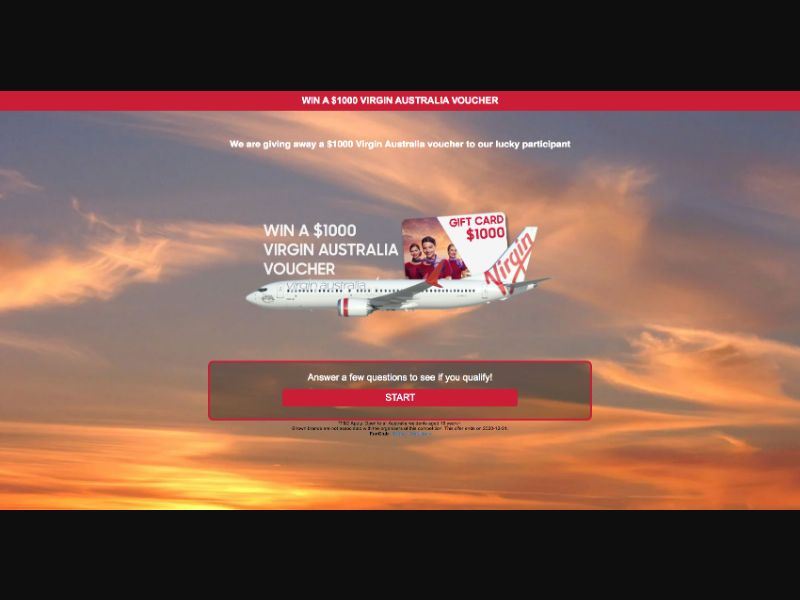 Virgin Airlines - CPL SOI - AU - Sweepstakes - Responsive