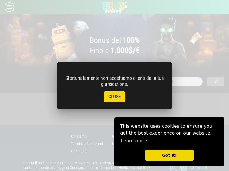 Spin Madness Casino - IT (IT), [CPA], Gambling, Casino, Deposit Payment, million, lotto