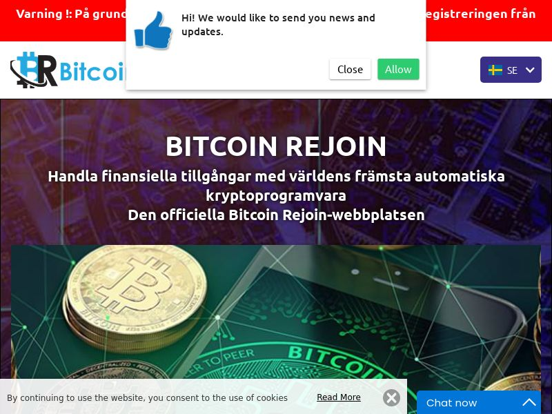 Bitcoin Rejoins Swedish 2800