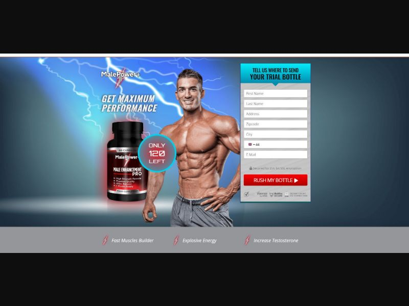 Male Power+ - Male Enhancement - Trial - [UK] - with 1-Click Upsell [Step1 $23.4 / Upsell $23.4]