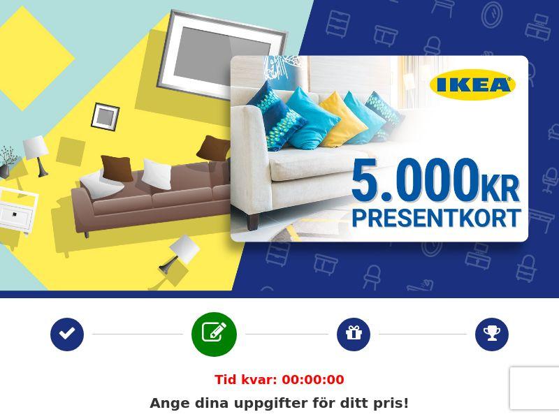 (13403) [WEB+WAP] IKEA 5.000 kr Voucher - SE - CPL