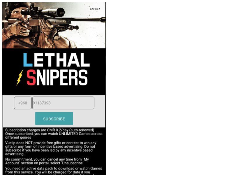 Lethal Sniper 3D Oman Mobile