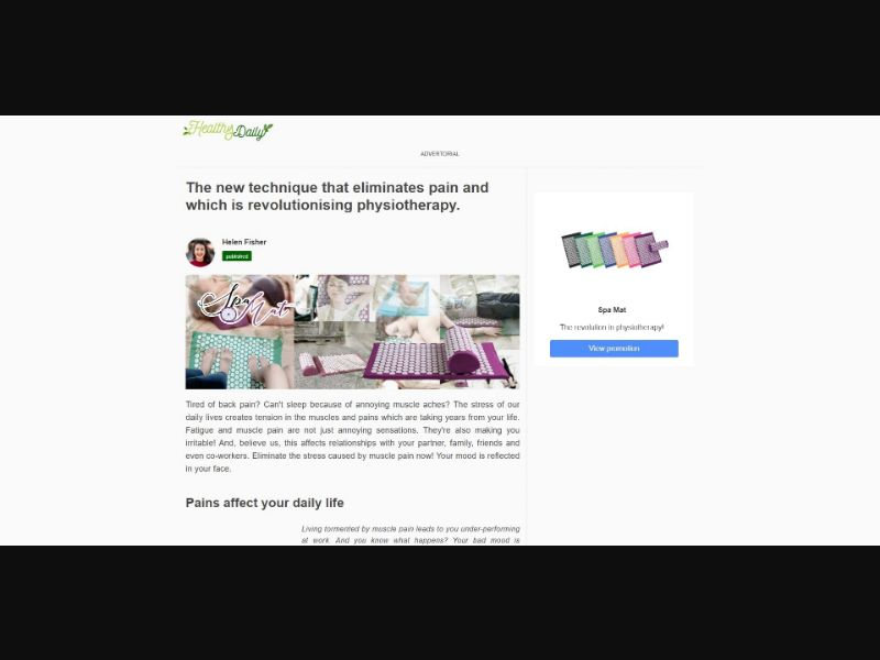 Spa Mat - Presell Page - eComm / Other - SS - [143 GEOs]