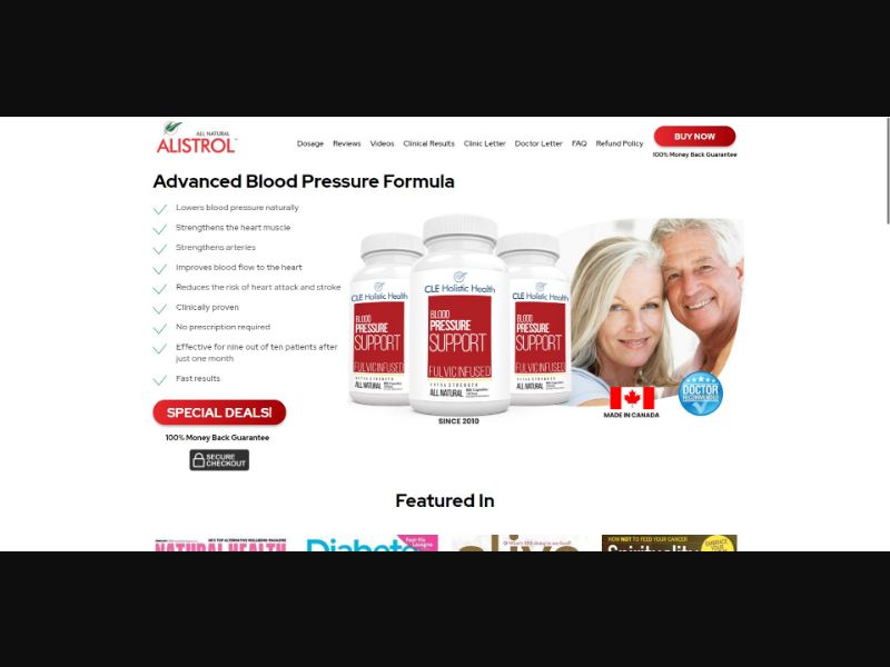 CLE Holistic Health Blood Pressure Support - Health - SS - [CA, US, UK, AU] - with 1-Click Upsell