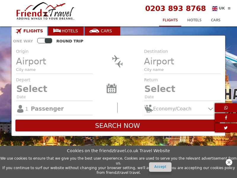 Friendz Travel - UK (GB), [CPA], Transport and Travel, Accommodation, Transport, Sell, holiday