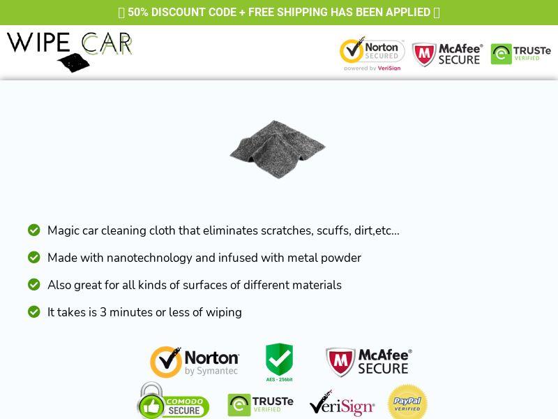Wipe Car- Nano Cleaning Cloth - CPA - [US/ UK/ CA]